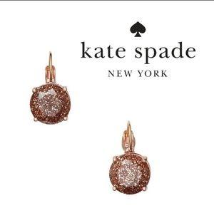♠️ Kate Spade ♠️ Rose Gold Glitter Earrings